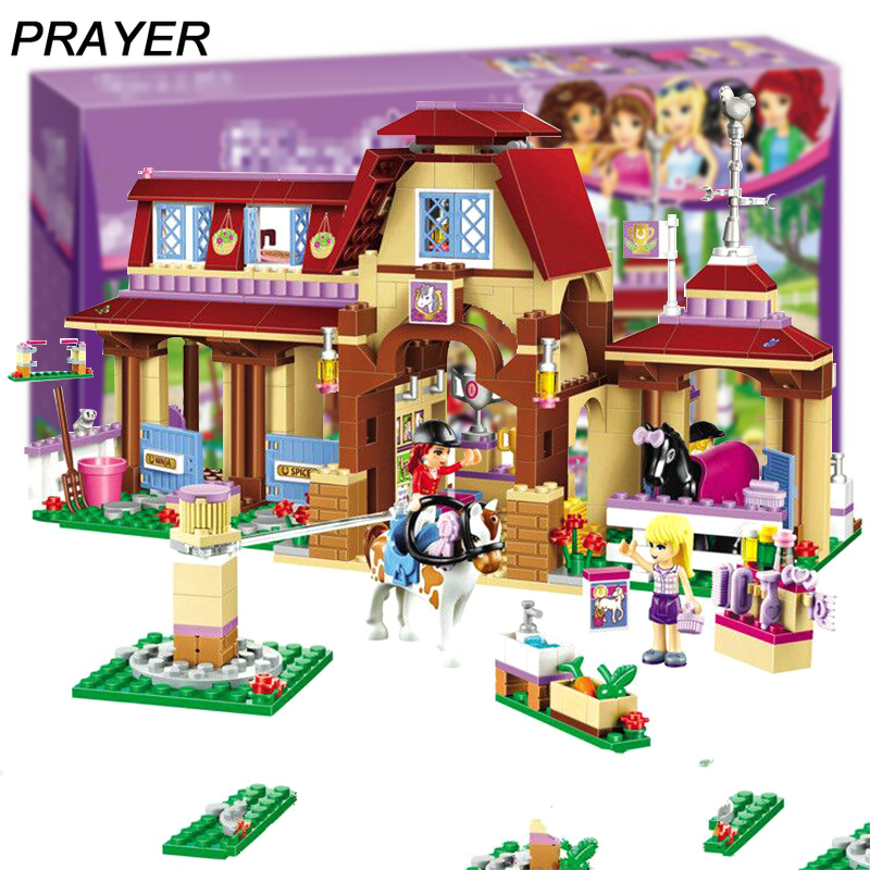 594PCS Girl Friends Series Heartlake Riding Club Building Blocks Brick Lepining Toys for Kids 41126 Educational Toys for Childre