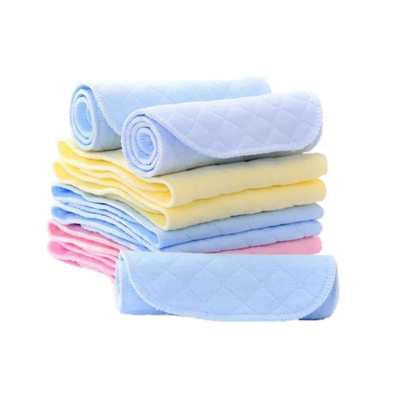 New Reusable baby Diapers Cloth Diaper Inserts 1 piece 3/6 Layer Insert 100% Cotton Washable babies care Eco-friendly diaper