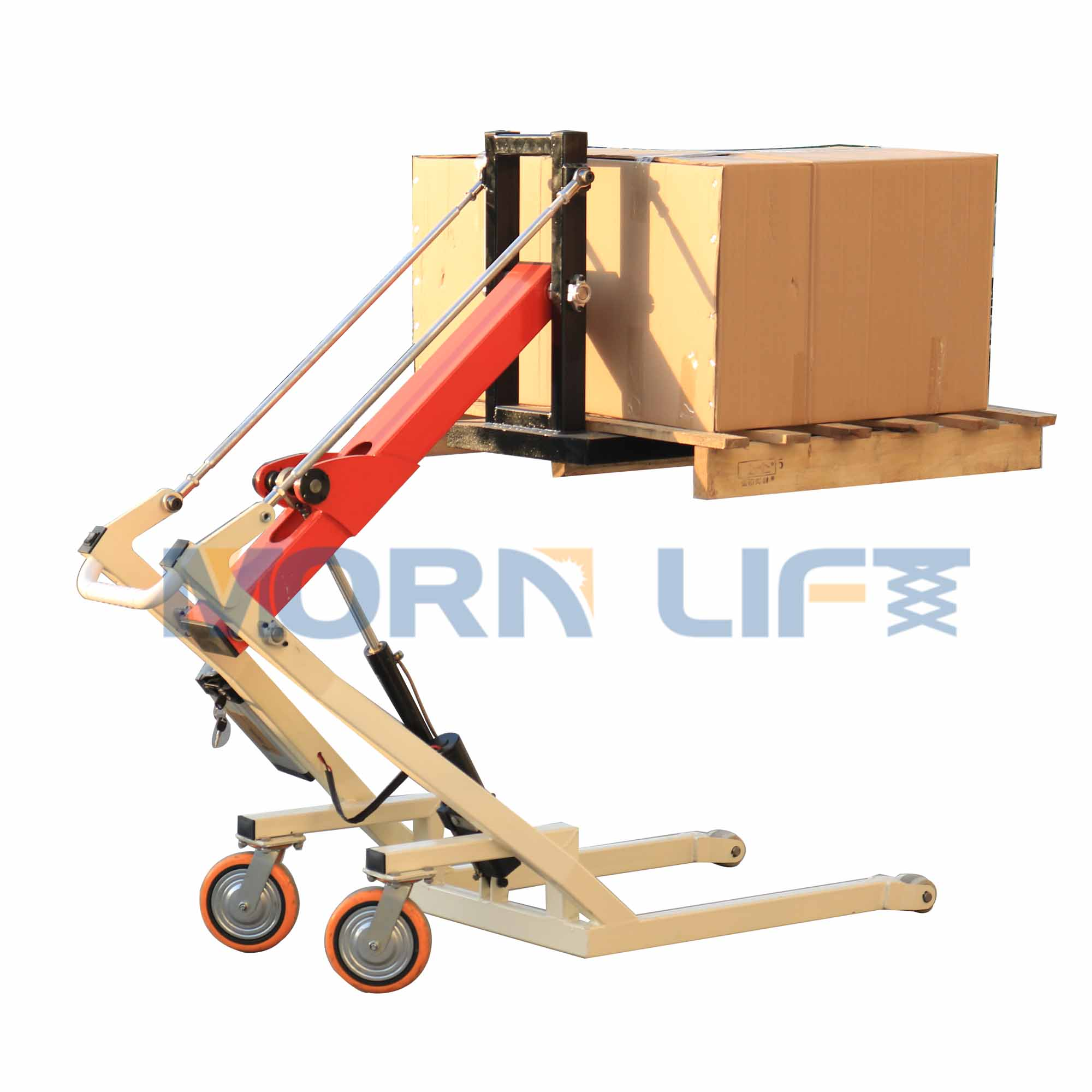 Easy To Operate, Load Capacity 300 Kg MORN LIFT Semi-electric Pallet Truck Smart Small Forklift Made In China