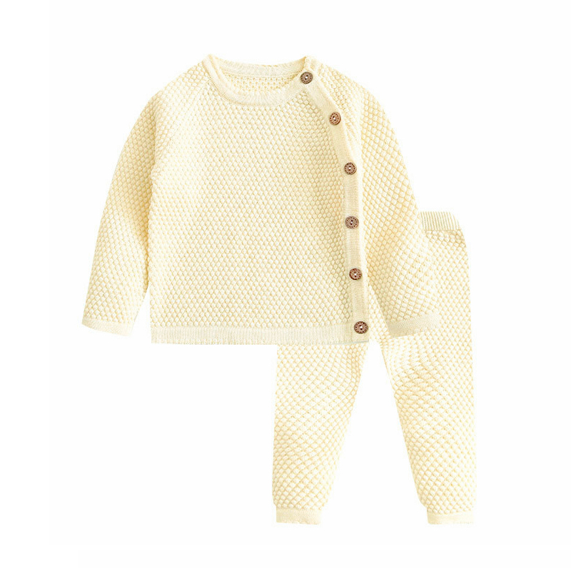 Baby Boy Girl Clothes Sets Spring Autumn Newborn Baby Girl Clothing Christmas Tops + Pant Outfits Baby Knit Sweater Baby Pajamas 4