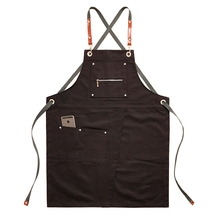 2020 fartuch kuchenny Unisex kawiarnia Barber Barista fartuch roboczy regulowany Chef fartuchy kuchenne fryzjerzy odzież do pracy
