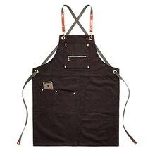 2020 mutfak önlüğü Unisex kahve dükkanı berber Barista çalışma önlüğü ayarlanabilir şef pişirme önlükleri kuaför iş elbisesi