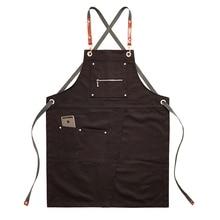 2020 מטבח סינר יוניסקס קפה חנות בארבר ריסטה עבודה סינר מתכוונן שף בישול סינרי מספרות עבודה ללבוש
