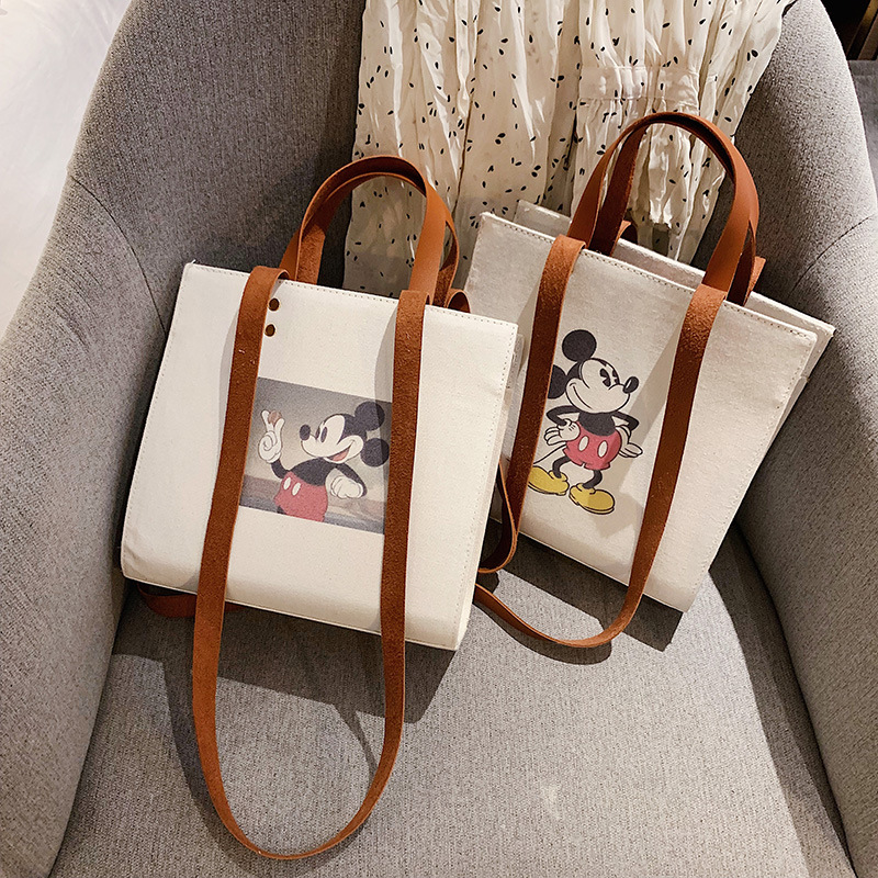Mickey Handbag Female Shoulder Crossbody Bag For Women 2019 New Wild Canvas Ladies Messenger Bag Women Bag Tote Bolsa Feminina