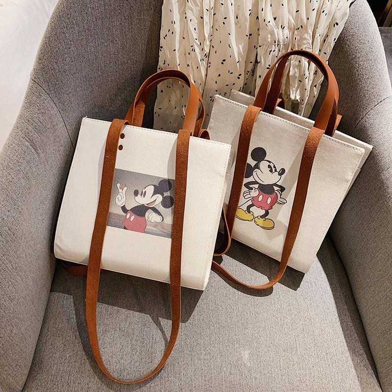 Mickey Handbag Female Shoulder Crossbody Bag For Women 2019 New Wild Canvas Ladies Messenger Bag Women Bag Tote Bolsa Feminina