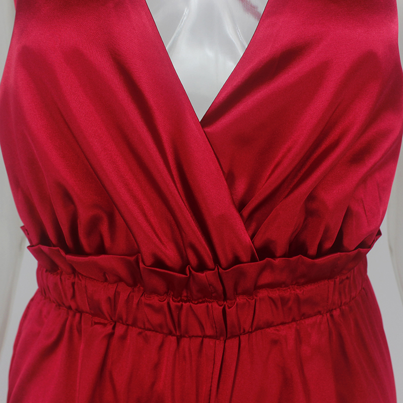 Pink Red Black Open Back Elegant Jumpsuit 14