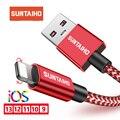 Suntaiho 2.4A Cable USB para Cable de cargador de iPhone Xs Max xr x 7 7 6 plus 6s para la iluminación de Cable de carga rápida Cable de carga de teléfono móvil