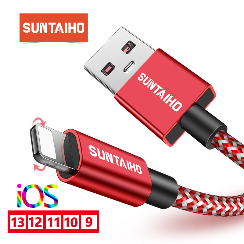 Suntaiho 2.4A kabel USB do ładowarki iPhone Xs Max xr x 7 8