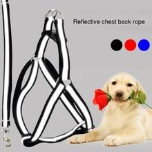 Reflective Pet Vest Harness Leash Set Soft Adjustable Rope Belt Dog Accessories Walking Multi-size M