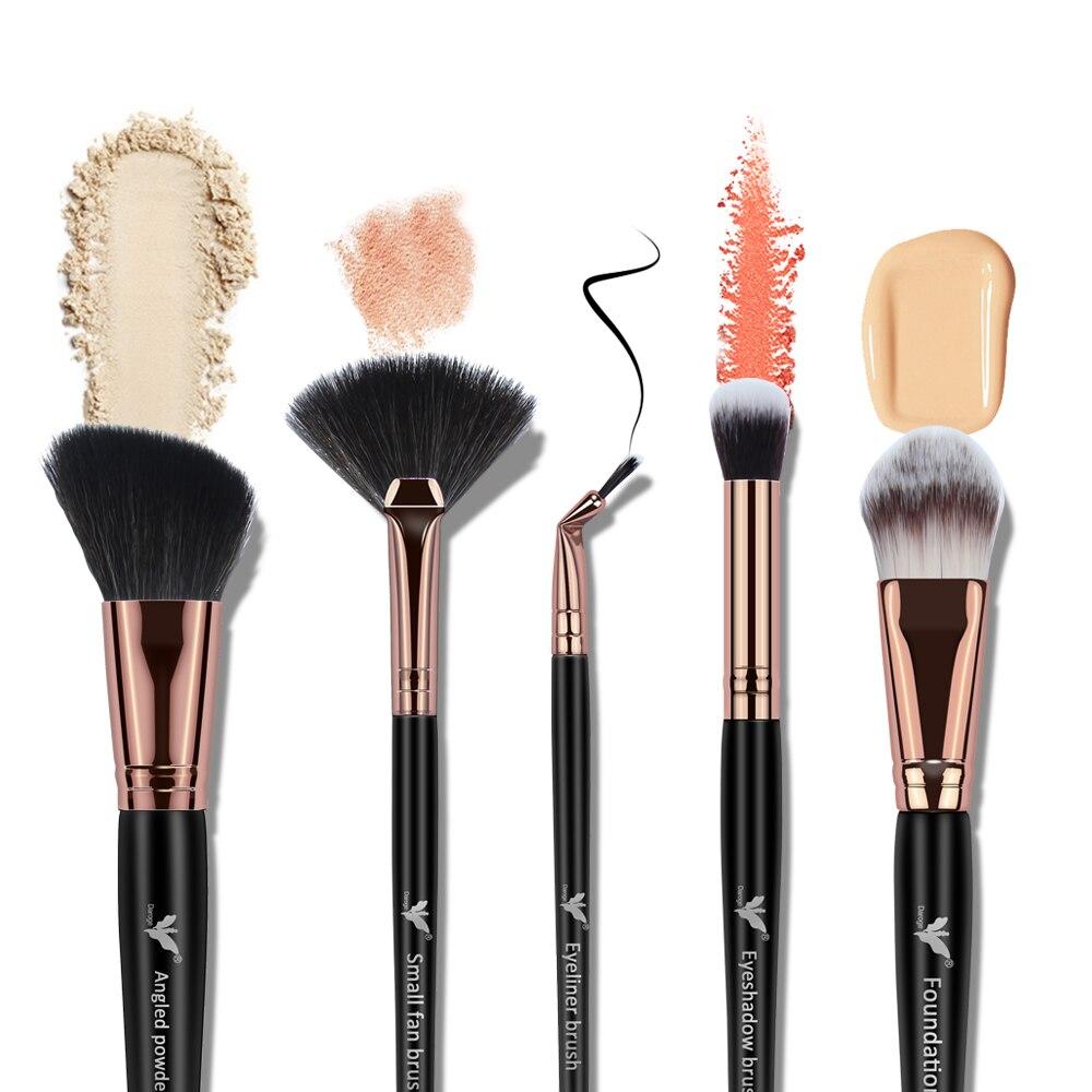 SANIYE 5 makyaj fırçası aracı seti kozmetik toz göz farı fondoten allık karıştırma güzellik profesyonel makyaj fırça DG508