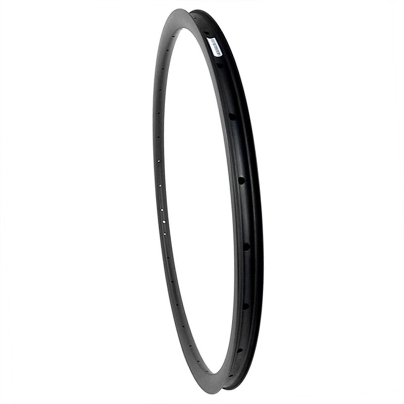 650B 27mm x 25mm deep Carbon <font><b>rim</b></font> 27.5er MTB tubeless hookless carbon <font><b>rim</b></font> UD 3K 12K <font><b>24H</b></font> 28H 32H matte glossy mountain bike wheel image