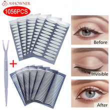 720/1056PC Invisible Double Eyelid Tape Self-Adhesive Transparent Eyelid Stickers Slim/Wide Waterproof Fiber Stickers for eyelid