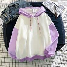 Зимняя одежда для женщин 2020 с капюшоном Пуловеры Лоскутные