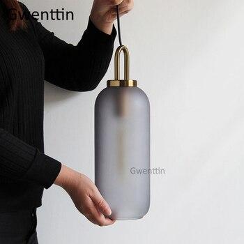 מודרני זכוכית כדור תליון אורות Led נורדי יוקרה תליית סלון חדר שינה מטבח תאורת גופי בית אמנות דקור