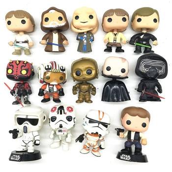 цена на Star Wars Action Figure Toys Collectibles Darth Vader Luke Skywalker Solo Trooper Vinyl Model Dolls