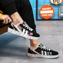 New Fashion Casual Men Boy Sneakers High Quality Student Lace-up Patchwork Spring Autumn Sporting Shoes pu patchwork lace up sneakers