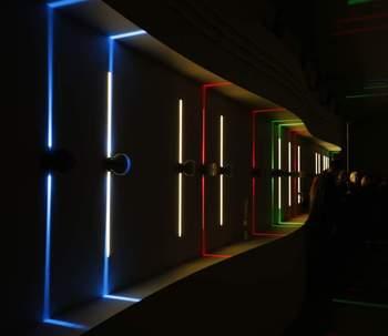 Aluminiowy artystyczny design okno ganek kinkiet ścienne oświetlenie pokojowe 10w cree led fioletowa RGB piloty tanie i dobre opinie UDDALight ROHS CN (pochodzenie) W górę iw dół KİTCHEN Do jadalni Do sypialni foyer do nauki Łazienka indoor outdoor Passage gallery