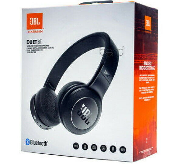Original JBL Duet BT Stereo Wireless On-Ear Headphones with 16-Hour Battery Sports Bluetooth Headsets