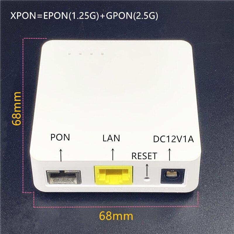 Minni ONU 68MM XPON EPON1.25G/GPON2.5G G/EPON ONU FTTH Modem G/EPON Compatible Router English Version ONU MINI68*68MM