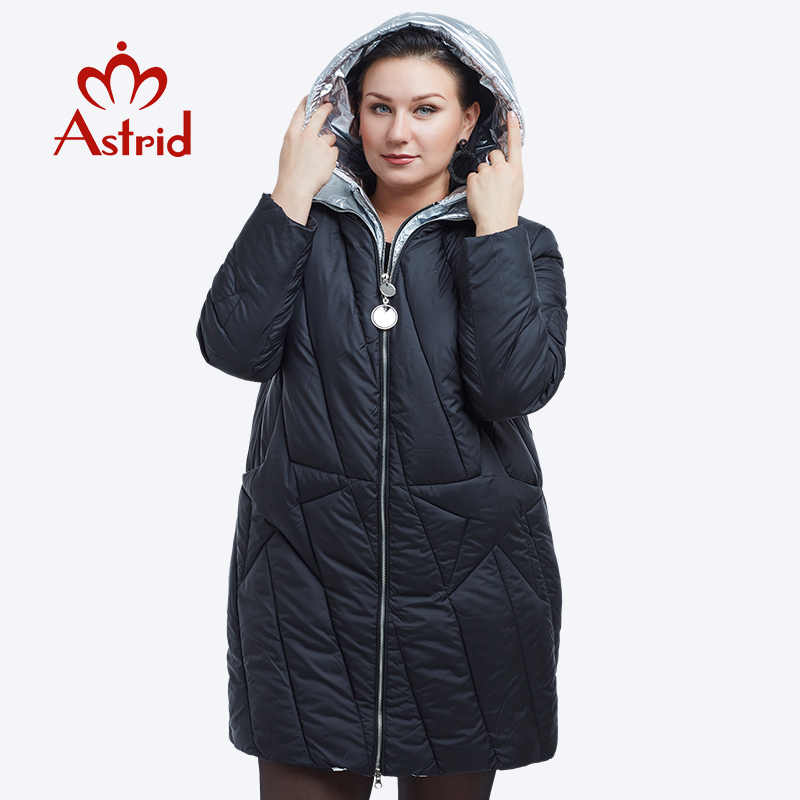 Nieuwe 2018 winter jas vrouwen Fashion Design Golden Hooded Winter Jas Vrouwen Warme Lange FR-5076