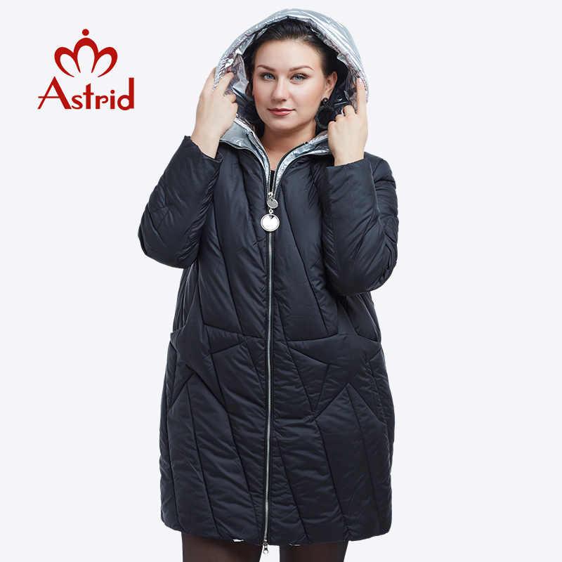 Mới 2018 Áo khoác mùa đông Thời Trang nữ Thiết Kế Vàng Có Mũ Áo Khoác Mùa Đông Nữ Dài Ấm Áp FR-5076
