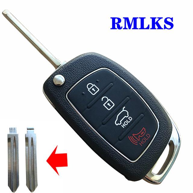 4 Buttons Car Flip Folding Remote Key Shell Fob Case For HYUNDAI Mistra Santa Fe Sonata Tucson Accent I30 I40 I45