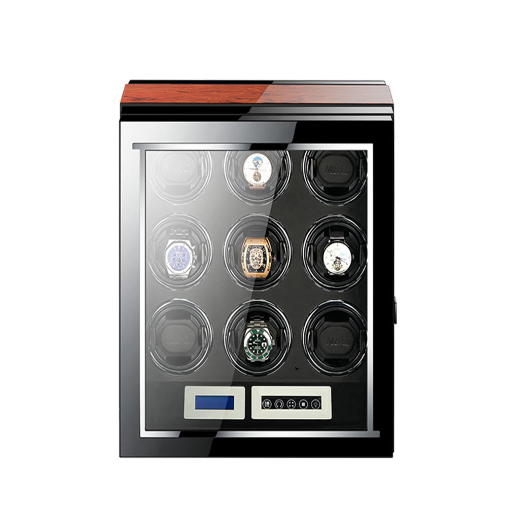 Watch Winder Holder Display 9 slots Automatic Mechanical Watch Winding Box Jewelry Watches Box New Storage Display Case