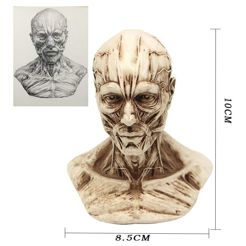 P-chama Estátua Escultura Pequeno Retrato 8.5*10 centímetros Crânio Escultura de Resina Retro Decorativo Decoração Da Família Decorativo Café bar