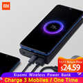 Original Xiao Mi Mi Wireless Power Bank 10000mAh Qi Fast Charger PLM11ZM Powerbank ภายนอกสำหรับ iPhone Samsung Mi โทรศัพท์