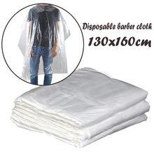50/100 capas descartáveis impermeáveis do salão de cabelo dos pces que lavam o cabo 60*90cm do champô das almofadas/130*160cm