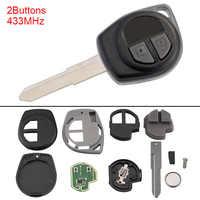 433MHz 2 Tasten Keyless Uncut Flip Remote Key Fob mit ID46 Chip für SUZUKI SWIFT SX4 Alto JIMNY VITARA IGNIS Splash 2007-2013