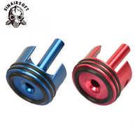 Shs cnc alumínio o-ring almofada de borracha tipo cabeça do cilindro apto aeg airsoft ver.2/3 caixa de velocidades para caça paintball tiro acessórios