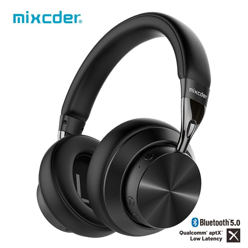 Беспроводные Bluetooth-наушники Mixcder E10, модернизированные наушники aptX с низкой задержкой, авиационная металлическая складная гарнитура с актив...