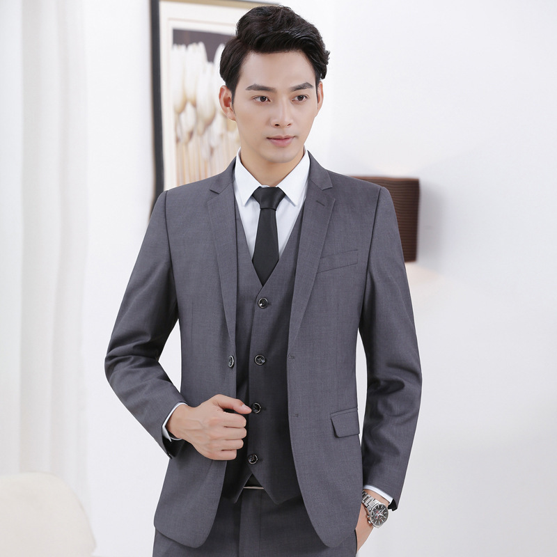 Wear Business Formal Wear Men Boutique Suit Set Bank Hotel Lobby Manager Interview Work Clothes