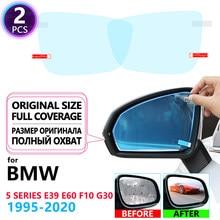 Capa completa anti nevoeiro filme espelho retrovisor filmes para bmw série 5 bmw g30 e39 e60 f10 acessórios do carro 520i 525i 530i 535gt 520d m