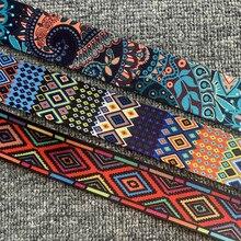 3 quintal 38mm 1.5 polegada étnica jacquard webbing saco cinto fita para diy casa têxtil vestuário cinto decoração costura acessórios