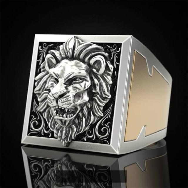 LION SKULL HEAD RINGS