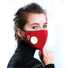 Fashion Unisex Respirator Mask With Breathing Valve Washable Cotton Activated Carbon Filter PM2.5 Mouth Masks Anti Dust Allergy(China)