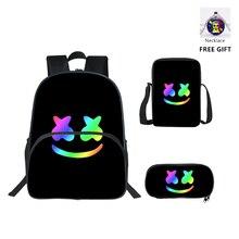 New /Dj Marshmallow /Bag Cosplay Costume/ Kids School Bags Printing Cute School Shoulder Marshmallow Backpack цены