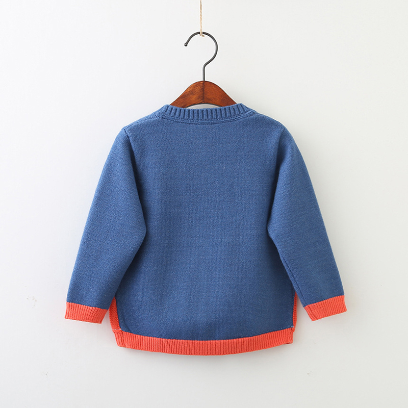 SAILEROAD 2-7Years Rainbow Embroidery Knitted Sweater for Girl Autumn Cardigan for Boys Warm Sweaters for Girls Kids Clothes 2