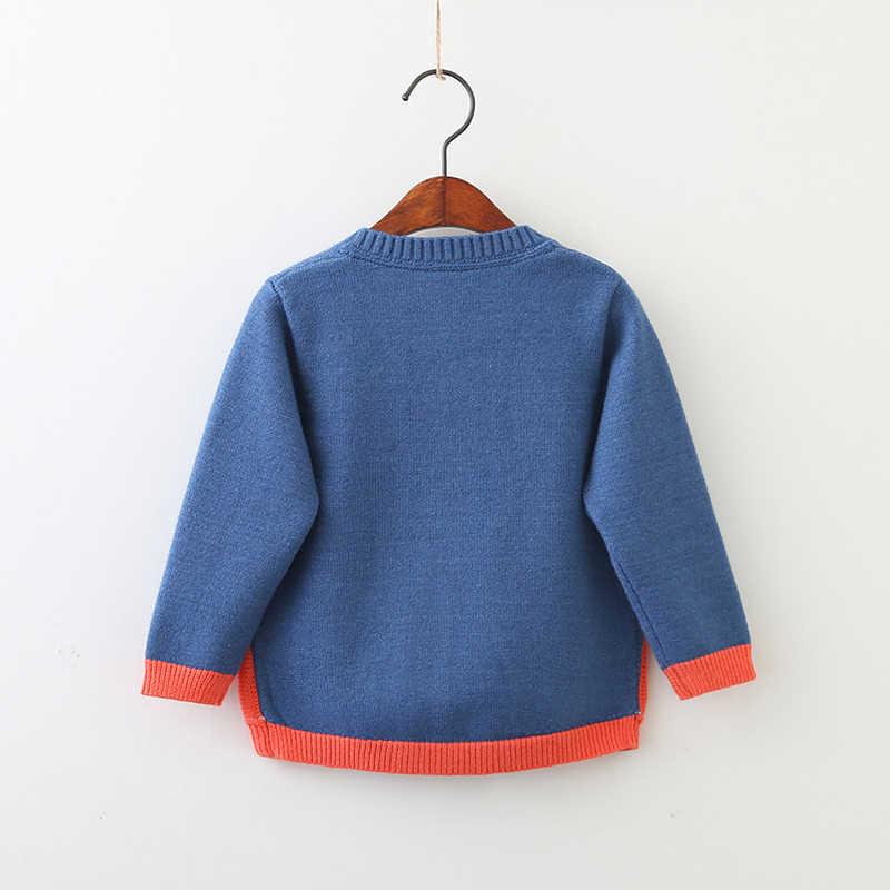 Saileroad 2-7years 레인보우 자수 소녀를위한 니트 스웨터 소년을위한 가을 카디건 소녀를위한 따뜻한 스웨터 아동복