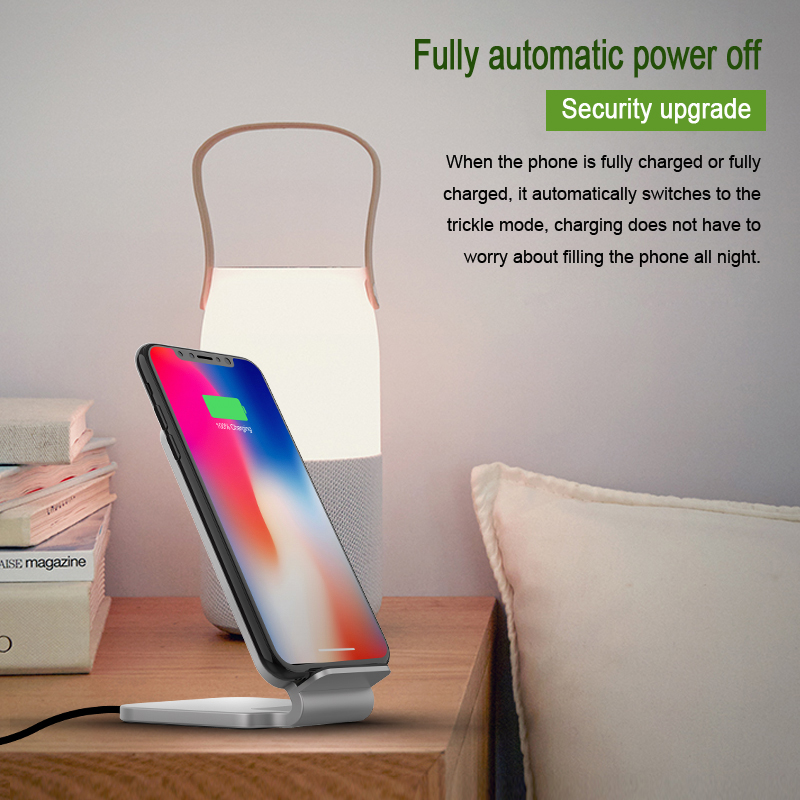 Image 5 - Lantro JS Qi Wireless Charger Stand Wood Fast Charger for iPhone Xs Max and Smartphone with 1M Type C Cable without Adapter-in Mobile Phone Chargers from Cellphones & Telecommunications