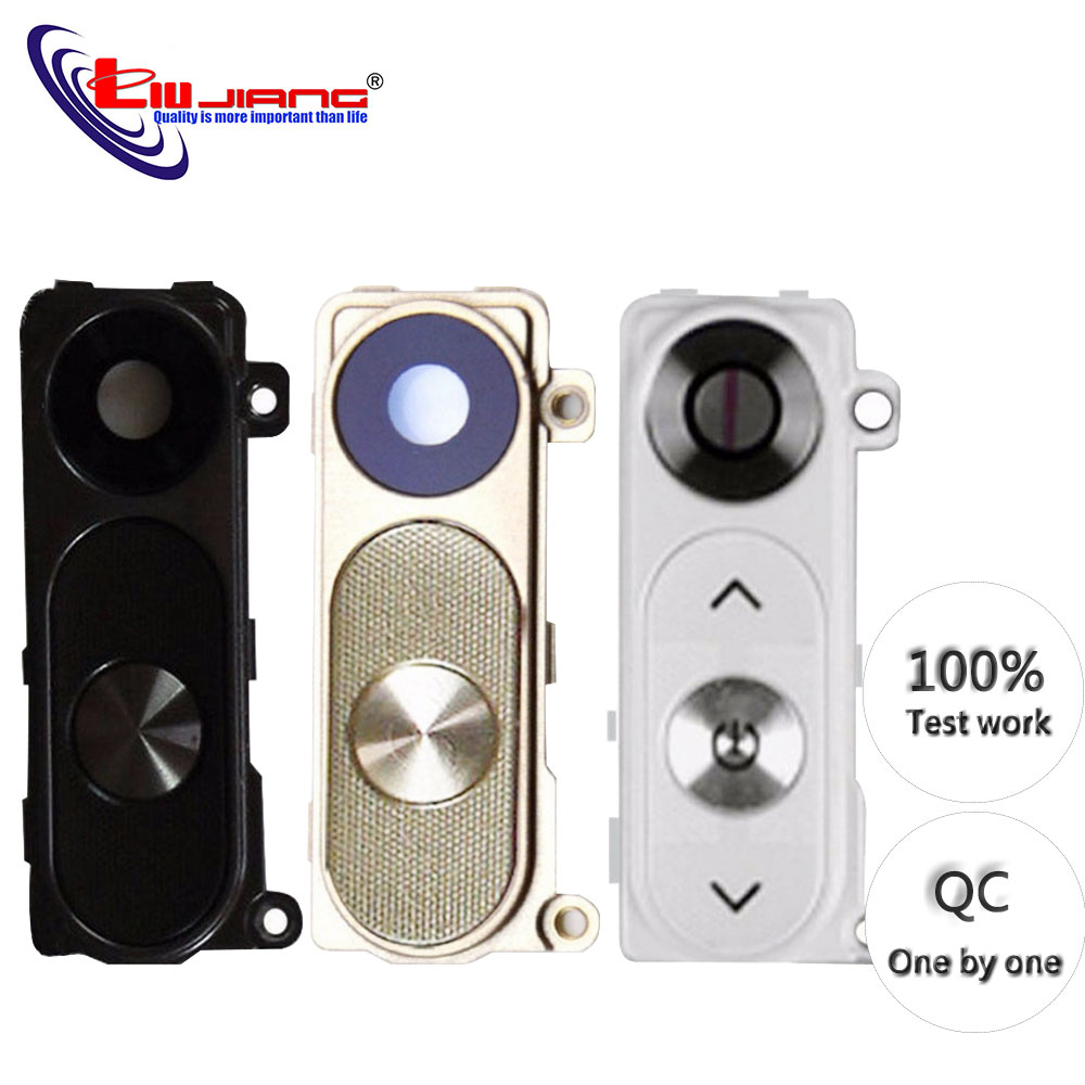 Original New For LG G3 G4 V10 Back Rear Camera Lens Cover Frame Holder Power Volume Button Assembly Free Shipping image