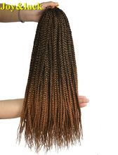 Joy&luck 22 inch Long Box Braids Synthetic Crochet Braiding Hair Ombre Color Hair Extentions Braid(China)