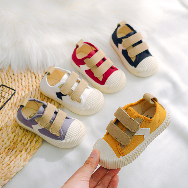 2020 New Kids Shoes Children Boys Flat Heel Canvas Designer Shoes Baby Girl Shoes Patchwork Toddler Sneakers For Children C11273