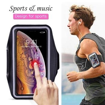 Sportowe do biegania etui na telefon etui na iPhone 11 Pro 2019 XS Max XR X 4S 5 SE 5 S iPhone 6 6s 7 8 Plus Case pasek osłona z uchwytem na rękę tanie i dobre opinie TWWEI Pokrowiec Gym Sports Running Phone Case Bag on Hand Apple iphone ów IPHONE 4S Iphone 5 Iphone5c Iphone 6 plus IPHONE 6S