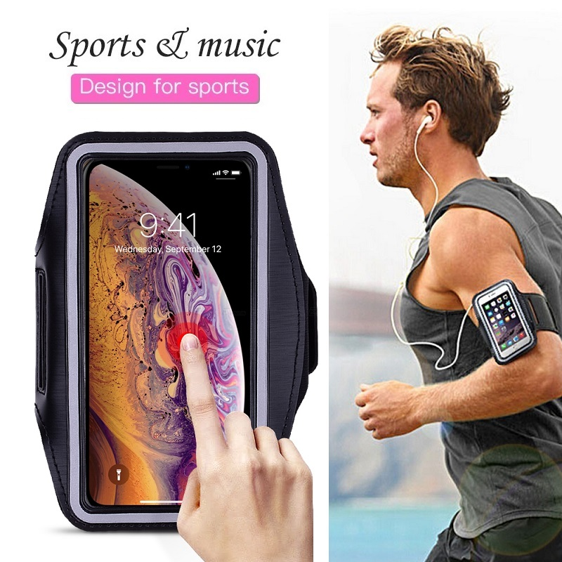 Sports Running Phone Bag Case for iPhone 11 Pro 2019 XS Max XR X 4s 5 SE 5s iPhone 6 6s 7 8 Plus Case Band Cover Holder on Hand