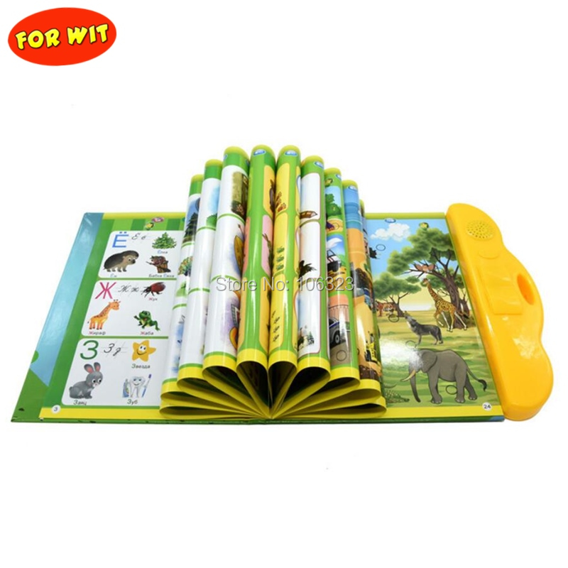 Russia Children Russian E-Book Learning Machine, Reading Toy, Electronic Early Educational Fun Study