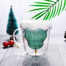 Рождественская елка стеклянная чашка термостойкие креативные