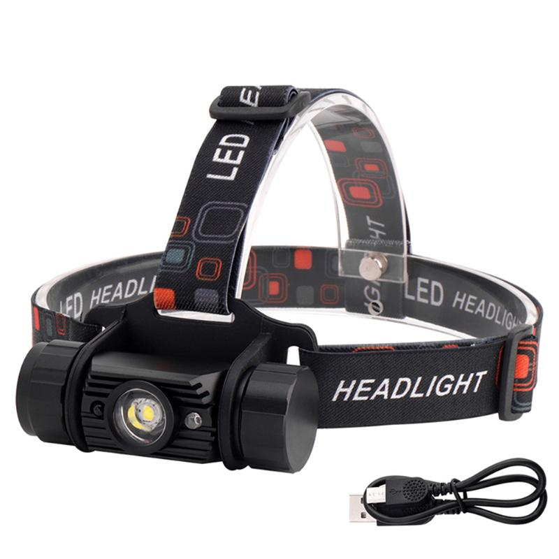 5W XTE/XPE LED Headlights Micro-USB Rechargeable Wave Sensor Headlamps For Outdoor Fishing Camping Adventure